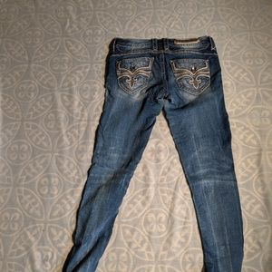 Rock Revival Distressed Destroyed Raw Jeans
